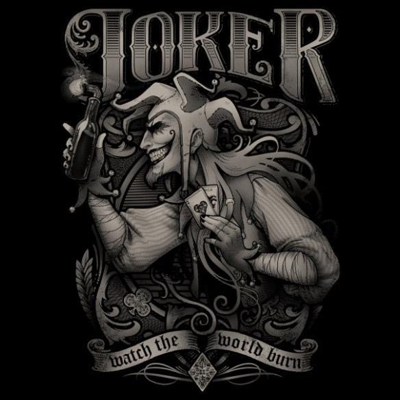 Joker Watch the World Burn T-Shirt