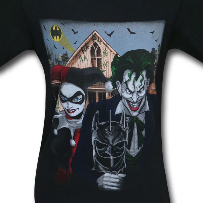 Joker and Harley Quinn American Gothic T-Shirt
