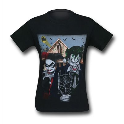 Joker and Harley Quinn American Gothic T-Shirt Back