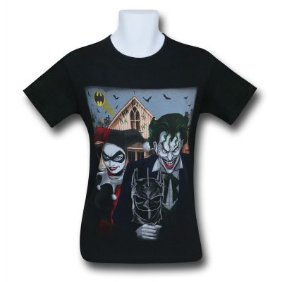 Joker and Harley Quinn American Gothic T-Shirt Front