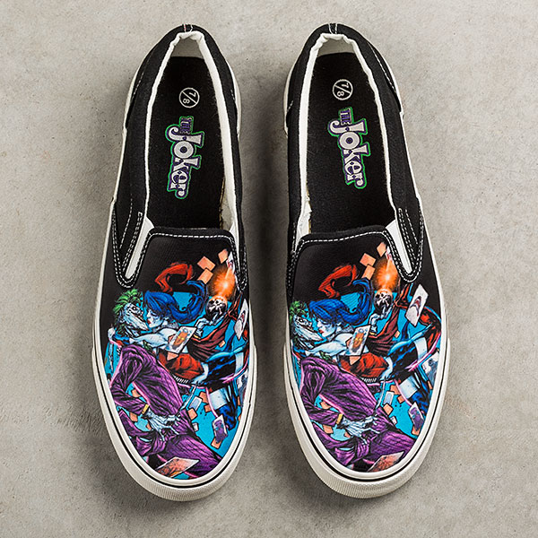 Joker and Harley Quinn Slip-On Sneakers