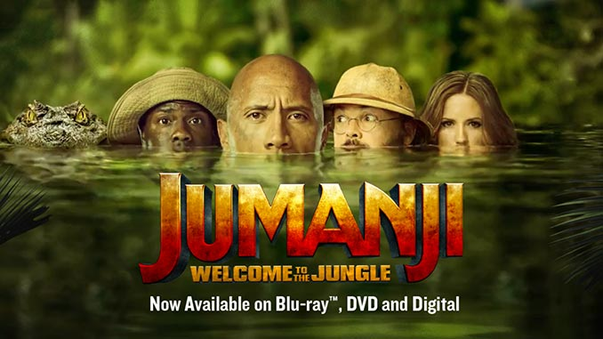 Jumanji: Welcome to the Jungle Released on DVD/Blu-ray/4K