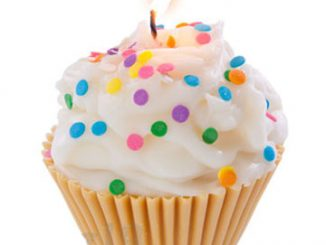 Jumbo Cupcake Candle