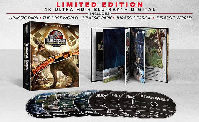 Jurassic Park 25th Anniversary Collection 4K Blu ray