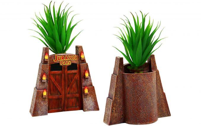 Jurassic Park Gates Faux Succulent Planter