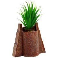 Jurassic Park Gates Faux Succulent Planter Back
