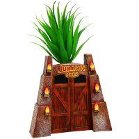 Jurassic Park Gates Faux Succulent Planter Front