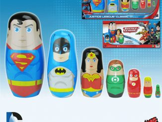 Justice League Classic Wood Nesting Dolls
