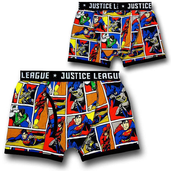 Justice League Comic Boxer Briefs