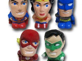 Justice League Eraser Topper 5-Pack