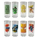 Justice League Glasses 4-Pack