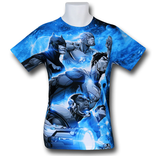 Justice League Space Patrol Sublimated T Shirt