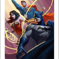 Justice League Trinity Premium Art Print