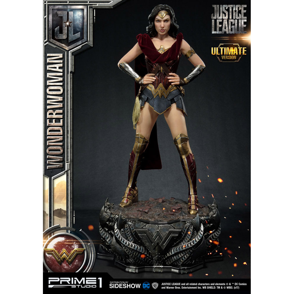 Standing Almost 34 Inches Tall And Limited To Just 350 Pieces This Statue Includes Some Cool Accessories Including An Interchangeable Wonder Woman Bust