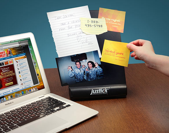 Justick Electro Desktop Noteboard