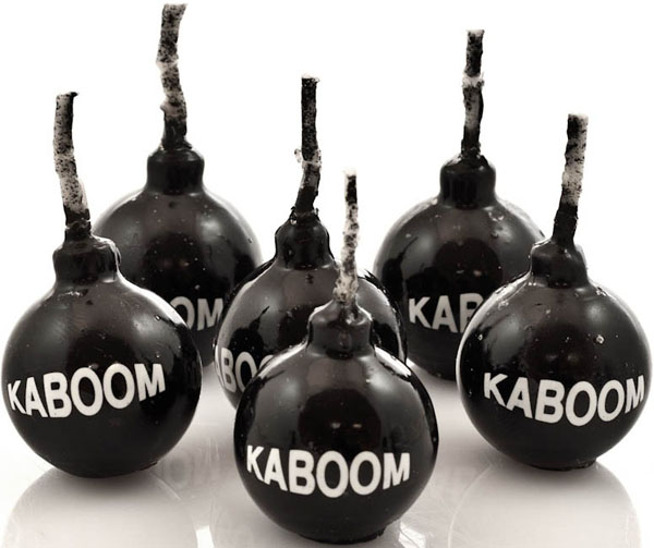 Kaboom Sparkle Candles