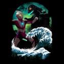 Kaiju Fight in Kaganawa Shirt
