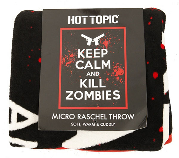 Keep Calm Kill Zombies Micro Raschel Throw