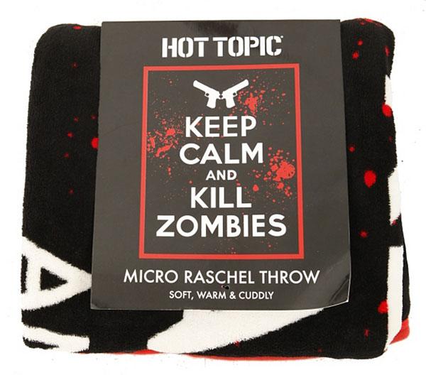 Keep Calm Kill Zombies Micro Raschel Throw