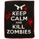 Keep Calm Kill Zombies Raschel Throw