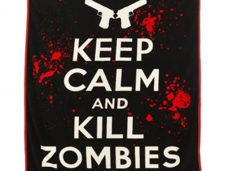 Keep Calm Kill Zombies Raschel Throw