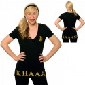 Khaaan V Neck Ladies TShirt