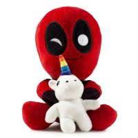 Kidrobot Deadpool Riding a Unicorn Plush