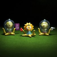 Kidrobot Simpsons Kang Maggie Kodos Treehouse of Horror Mini Figures