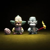 Kidrobot Simpsons Krusty Homer Gremlin Treehouse of Horror Mini Figures