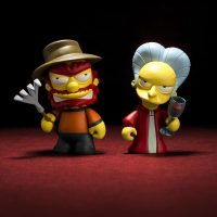 Kidrobot Simpsons Willie Mr Burns Treehouse of Horror Mini Figures