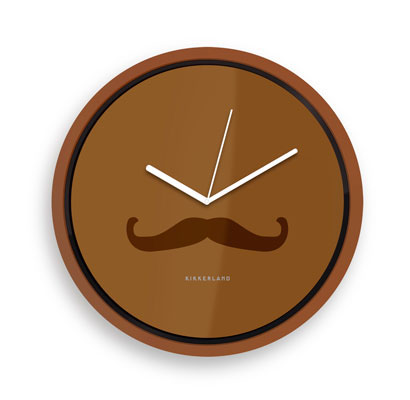 Kikkerland Mustache Wall Clock