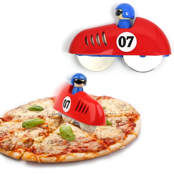 Kikkerland Pizza Racer Pizza Cutter