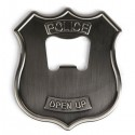Kikkerland Police Badge Stainless Steel Bottle Opener