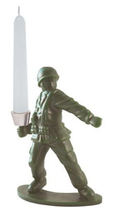 Kikkerland Soldier Candle Holder