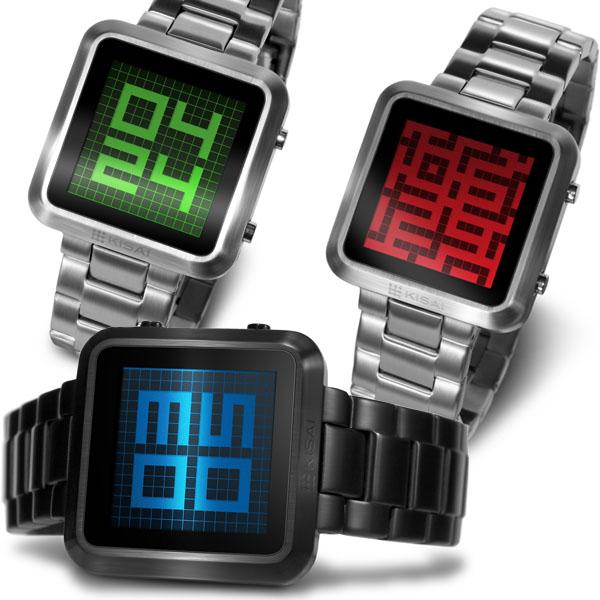 Kisai Maze LCD Watch