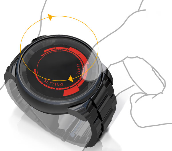 Kisai Rogue Touch Screen LED Backlit Watch