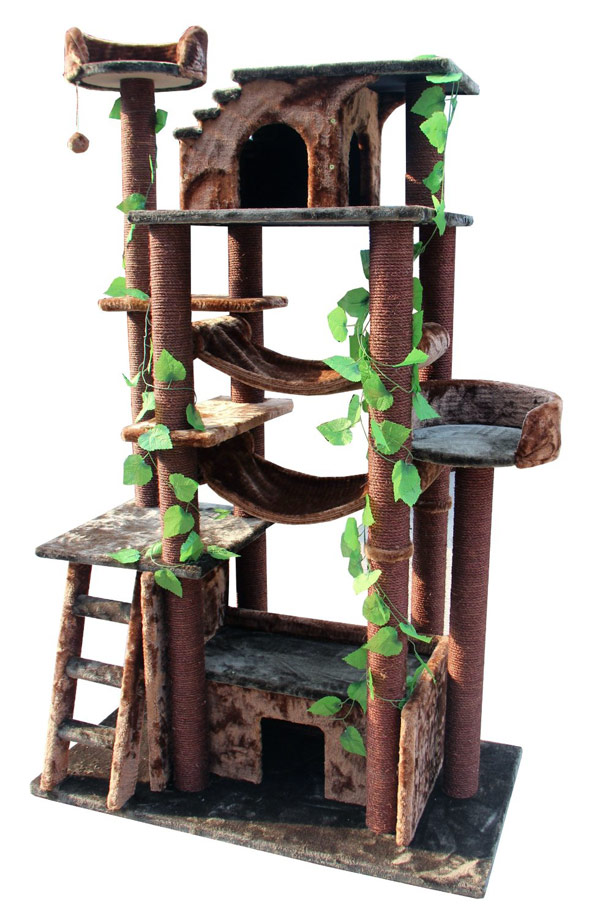 Kitty mansions amazon cat tree for Tree house blueprint maker