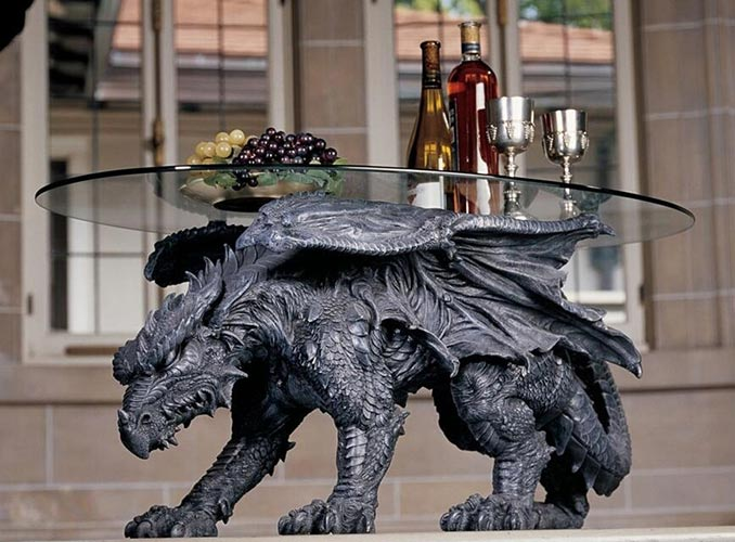 Kneeling Warwickshire Dragon Table