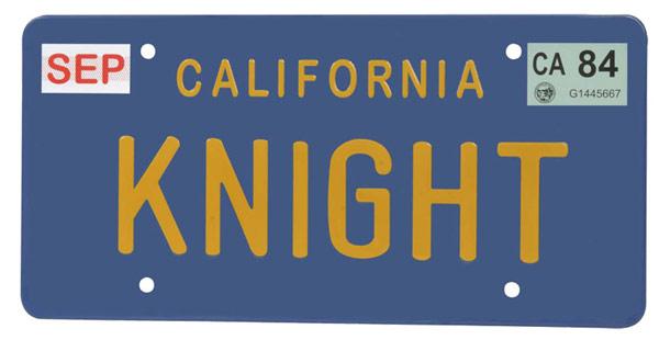 Knight Rider Knight License Plate