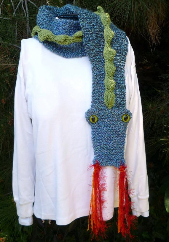 Knitted Dragon Scarf
