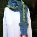 Knitted Dragon Winter Scarf