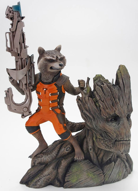 Kotobukiya ARTFX Statue Rocket Racoon and Groot