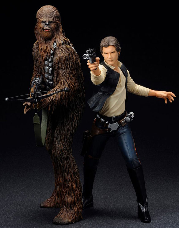 Kotobukiya ArtFX + Star Wars Han Solo & Chewbacca Statue 2pk