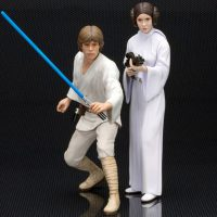 Kotobukiya ArtFX + Star Wars Princess Leia & Luke Skywalker Statue 2pk