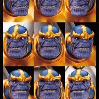 Kotobukiya Thanos on Space Throne Fine Art Statue Face Detail
