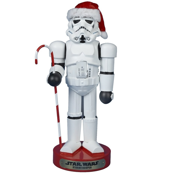 Kurt Adler Star Wars Storm Trooper Nutcracker with Candy Cane
