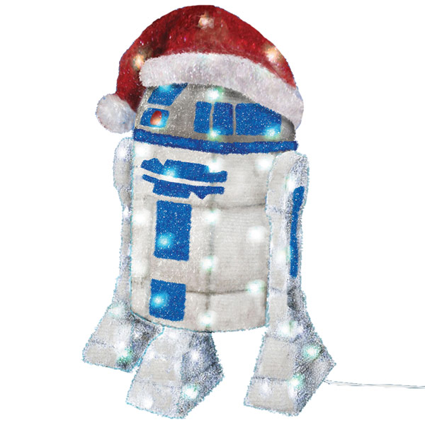 Kurt Adler  UL 50 Light R2D2 Tinsel Decoration