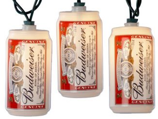 Kurt S. Adler Blow Mold Budweiser Can Light Set