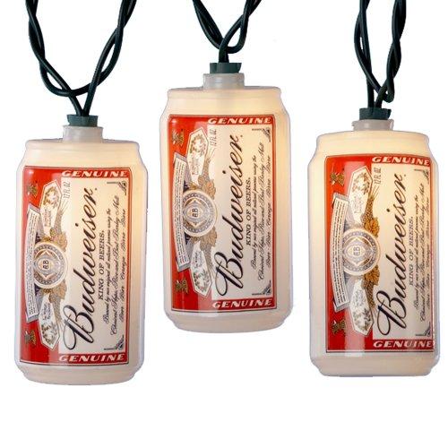 Kurt S. Adler Blow Mold Budweiser Can Light Set