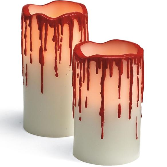 LED Blood Drip Candles